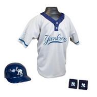 New York Yankees Franklin Youth MLB Kids Team Helmet, Jersey & Wristband Set