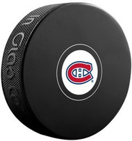 Montreal Canadiens NHL Team Logo Autograph Model Hockey Puck - Current Logo