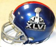 New York Giants Super Bowl XLVI 46 Champions Riddell NFL Replica Mini Helmet