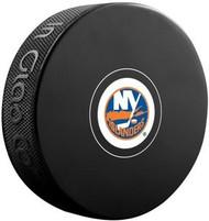New York Islanders NHL Team Logo Autograph Model Hockey Puck - Current Logo