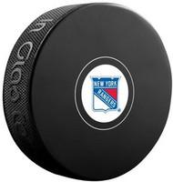 New York Rangers NHL Team Logo Autograph Model Hockey Puck - Current Logo