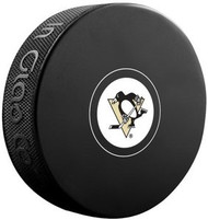 Pittsburgh Penguins NHL Team Logo Autograph Model Hockey Puck - Current Logo