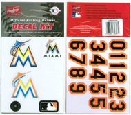 Miami Marlins Official Rawlings Authentic Batting Helmet Decal Kit