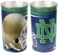 Notre Dame Fighting Irish NCAA Team Logo Wincraft Metal Tapered Wastebasket Trash Can (Helmet Logo)