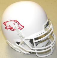 Arkansas Razorbacks WHITE Schutt NCAA College Football Authentic Team Mini Helmet