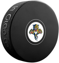 Florida Panthers NHL Team Logo Autograph Model Hockey Puck - Current Logo