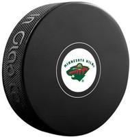 Minnesota Wild NHL Team Logo Autograph Model Hockey Puck - Current Logo