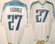 Eddie George Tennessee Titans White Custom Adidas Licensed Mesh Souvenir NFL Jersey Size XL