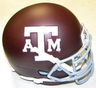 Texas A&M Aggies Schutt NCAA College Football Authentic Team XP Style Mini Helmet Red with Grey Mask