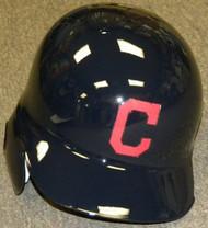 Cleveland Indians C Logo Rawlings Full Size Authentic Left Handed Batting Helmet - Right Flap Regular