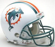 Miami Dolphins 1997-2012 Throwback Riddell NFL Authentic Pro Line Full Size Helmet