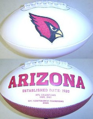 Arizona Cardinals Rawlings Jarden Sports Signature NFL Full Size Fotoball Football Current Version - BLOWN UP with BOX & PEN