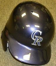 Colorado Rockies Rawlings Full Size Authentic Left Handed Batting Helmet - Right Flap Regular