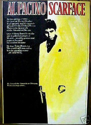 Al Pacino Scarface Tony Montana 22x32 Black Light Yellow John Stango Original Abstract Art Acrylic On Canvas Painting
