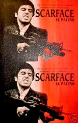 Al Pacino Scarface Tony Montana 40x63 John Stango Original Abstract Art Acrylic On Canvas Painting