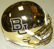 Baylor Bears GOLD CHROME Schutt NCAA College Football Authentic Team Mini Helmet
