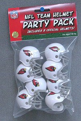 Arizona Cardinals NFL Football Riddell 8 Gumball Helmet Party Pack Set