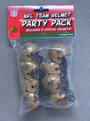 New Orleans Saints NFL Football Riddell 8 Gumball Helmet Party Pack Set