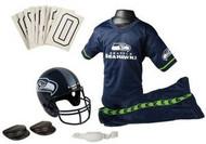 Seattle Seahawks Franklin Deluxe Youth / Kids Football Uniform Set - Size Small