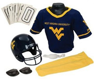 West Virginia Mountaineers Franklin Deluxe Youth / Kids Football Uniform Set - Size Small