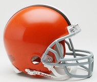 Cleveland Browns 2006-2014 NFL  Throwback Team Logo Riddell 3-Pack Mini Helmet Set