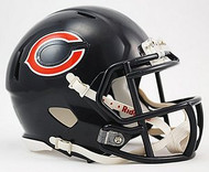 Chicago Bears NFL Team Logo Riddell 3-Pack Revolution SPEED Mini Helmet Set