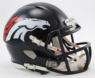 Denver Broncos NFL Team Logo Riddell 3-Pack Revolution SPEED Mini Helmet Set