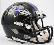 Baltimore Ravens NFL Team Logo Riddell 6-Pack Revolution SPEED Mini Helmet Set
