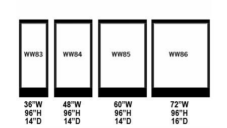 Bluworld Water Wall Size Options