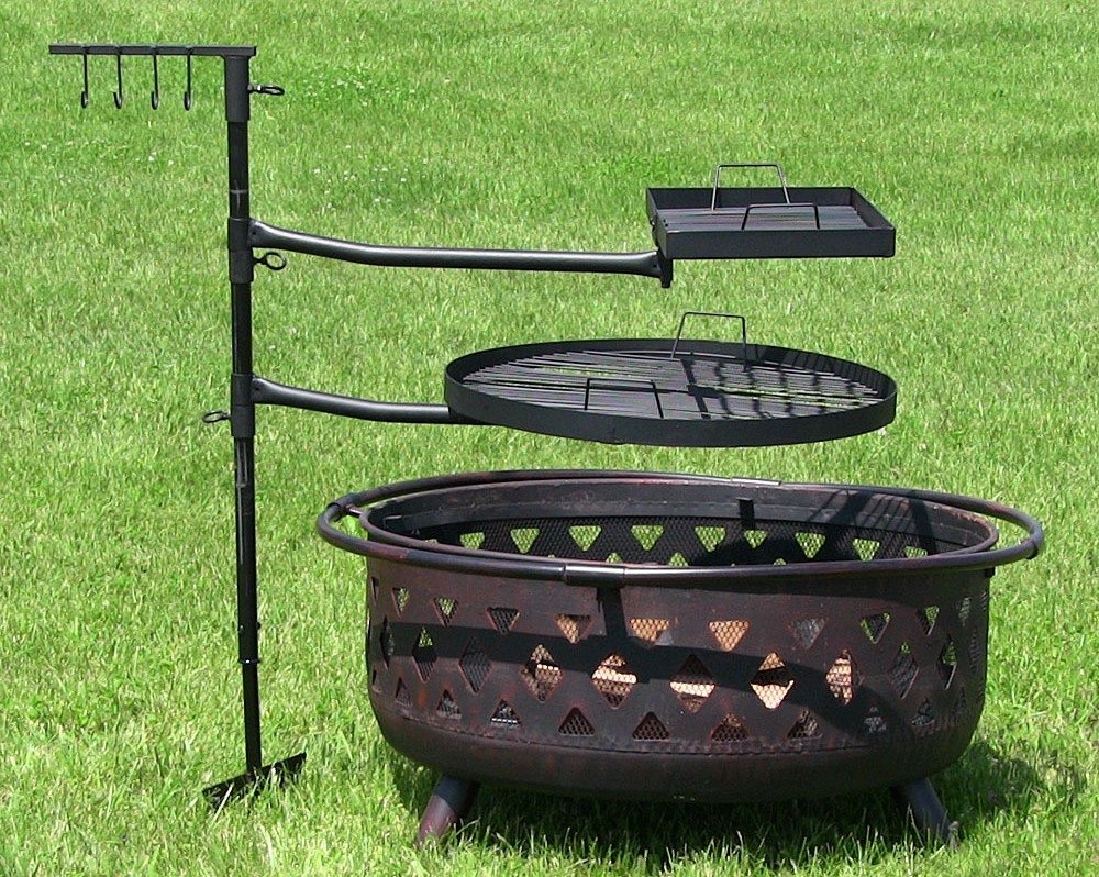 Fire Pit Dual Grill System
