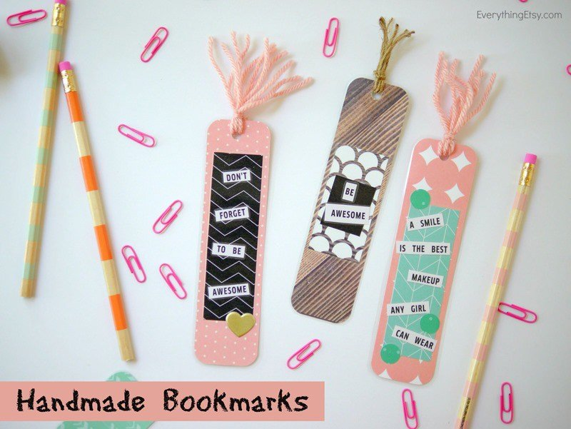 making spunky bookmarks could be a great encouragement for the kids to start reading again now that school is back in session get some design ideas at - Bookmark Design Ideas