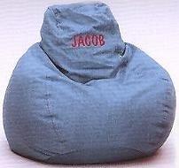 Monogram Blue Denim Beanbag