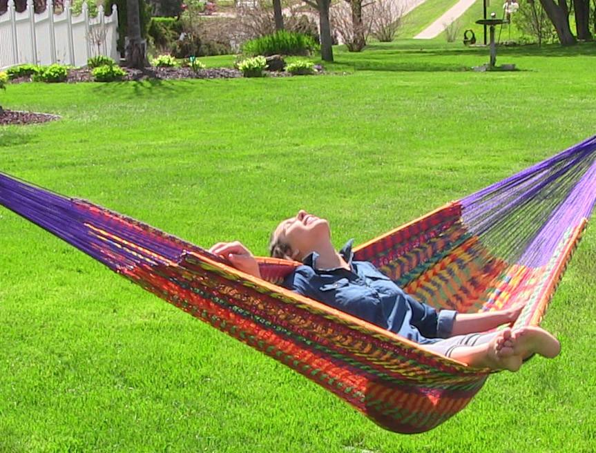 multicolored  sunnydaze hand woven xxl mayan hammock  u2013 880lb capacity  rh   serenityhealth