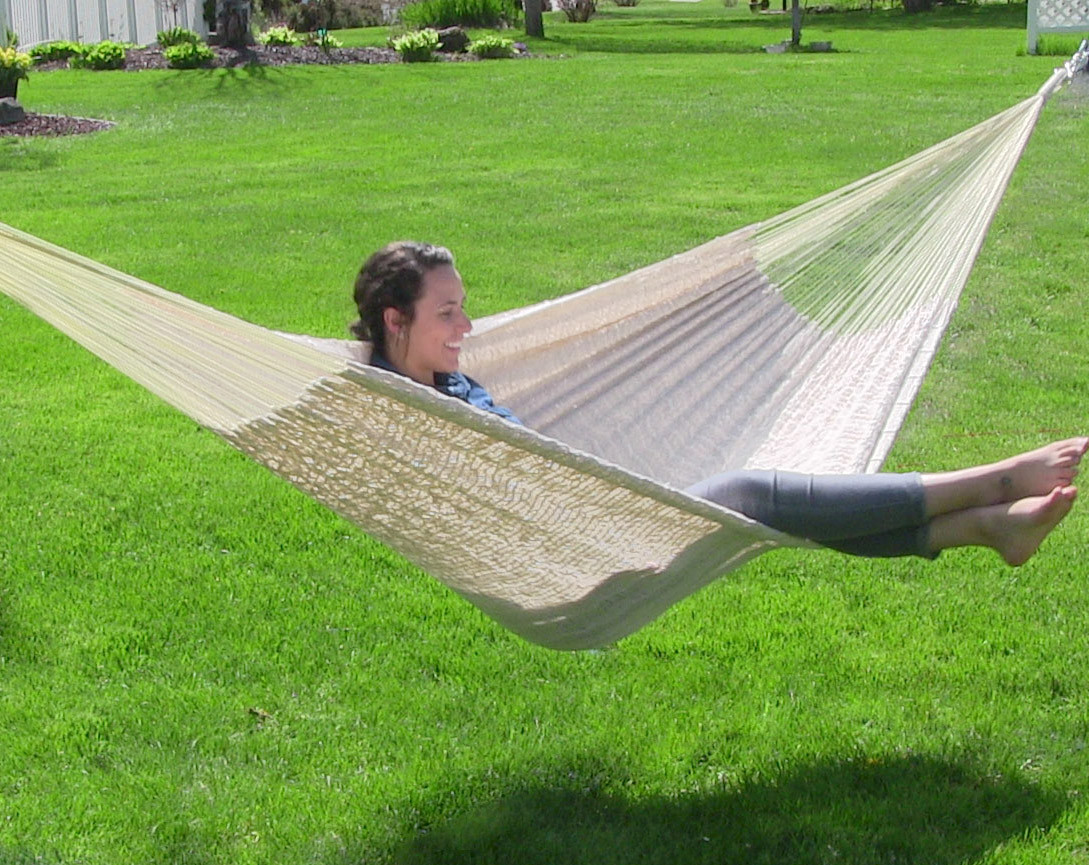 Multicolored · Natural · Natural · Multicolored ... - Sunnydaze Hand-Woven XXL Mayan Hammock – 880lb Capacity