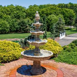 4 Tier Grand Courtyard Fountain   Earth Color