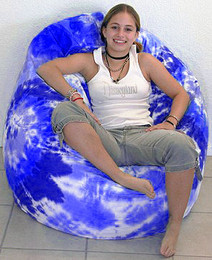Tie Dye Cotton Pod Shape Bean Bag Chair