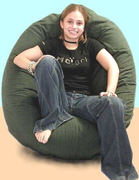 Brushed Cotton Bean Bag Chair - Pod Shaped