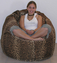 Faux Fur Pod Shaped Bean Bag Chair