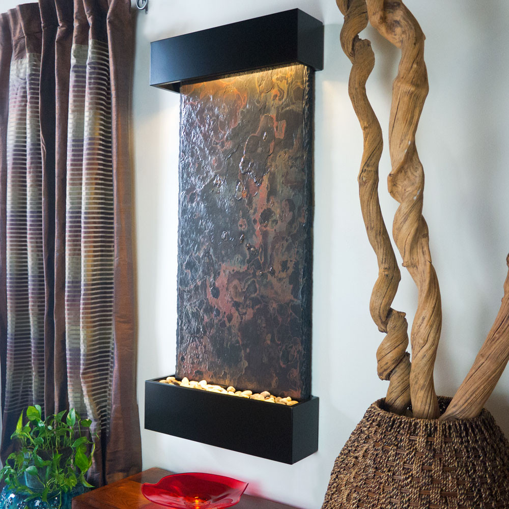 Wall Fountains – Stone, Slate, Copper, Stainless & More