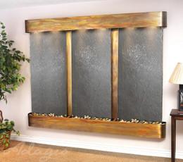 Rustic Copper & Black Featherstone Slate