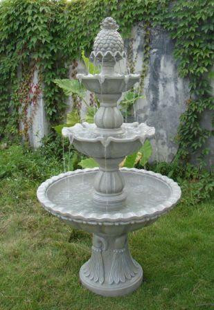 Sunnydaze Welcome Tier Garden Fountain Tall Photo