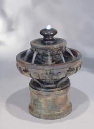 Small Regal Cast Stone Tiered Fountain by Henri Studio