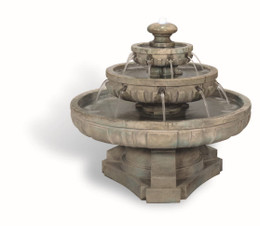 Large Regal Tiered Cast Stone Fountain by Henri Studio