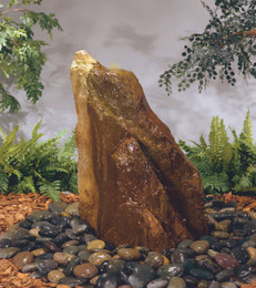 Henri Studio Cast Stone Bubbling Unique Rock Outdoor Fountain