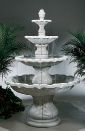 Beautiful 8-Piece Cast Stone Classical Finial Fountain by Henri Studio