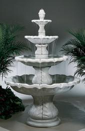 Beautiful 8-Piece Cast Stone Classical Finial Outdoor Fountain by Henri Studio