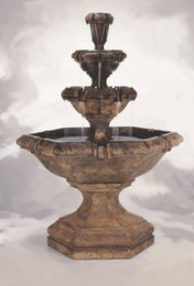 Henri Studio Cast Stone Grande Kensington Three-Tier Fountain