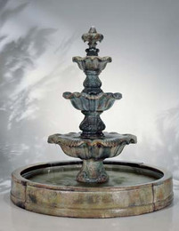 Cast Stone Three Tier Renaissance in Valencia Fountain by Henri Studio