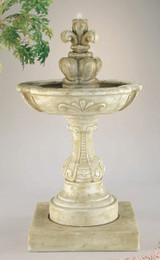 Charming Cast Stone French Fleur de Lys Fountain by Henri Studio