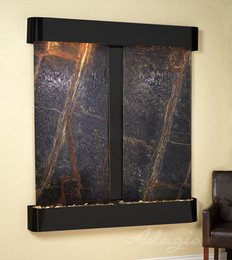Blackened Copper with Green Marble